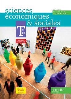 Sciences Economiques & Sociales Tle ES