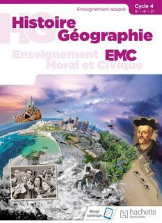 Histoire Geographie EMC - Enseignement adapte - Cycle 4