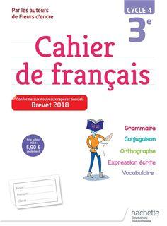 Cahier de français 3e (Cycle 4)