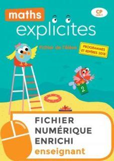 Maths Explicites CP - Fichier numérique enrichi enseignant - Ed. 2019